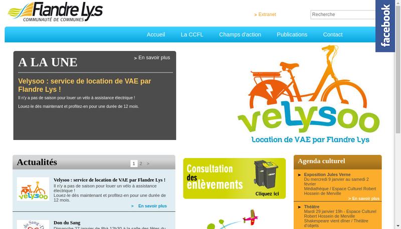 Capture d'écran du site de Flandre Lys Conseil