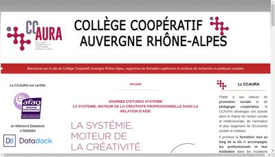 Capture d'écran du site de College Cooperatif Rhone Alpes