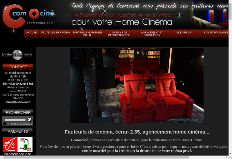 Capture d'écran du site de Ccomocine