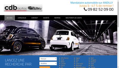 Capture d'écran du site de Cdb Autos