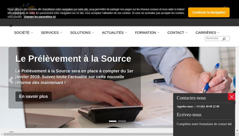 Capture d'écran du site de Cegedim Srh Montargis