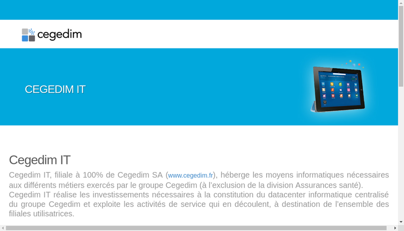 Capture d'écran du site de Cegedim It