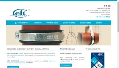 Capture d'écran du site de Celt Supportage