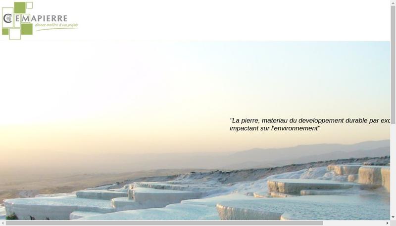 Capture d'écran du site de Cemapierre