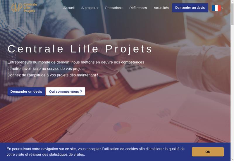 Capture d'écran du site de Centrale Lille Projets