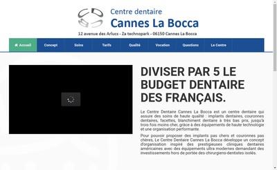 Site internet de Centre Dentaire Cannes la Bocca