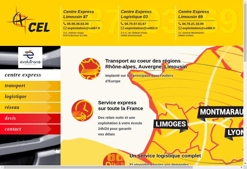 Capture d'écran du site de Centre Express Limousin 69