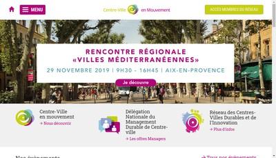 Site internet de Association Centre Ville en Mouvement