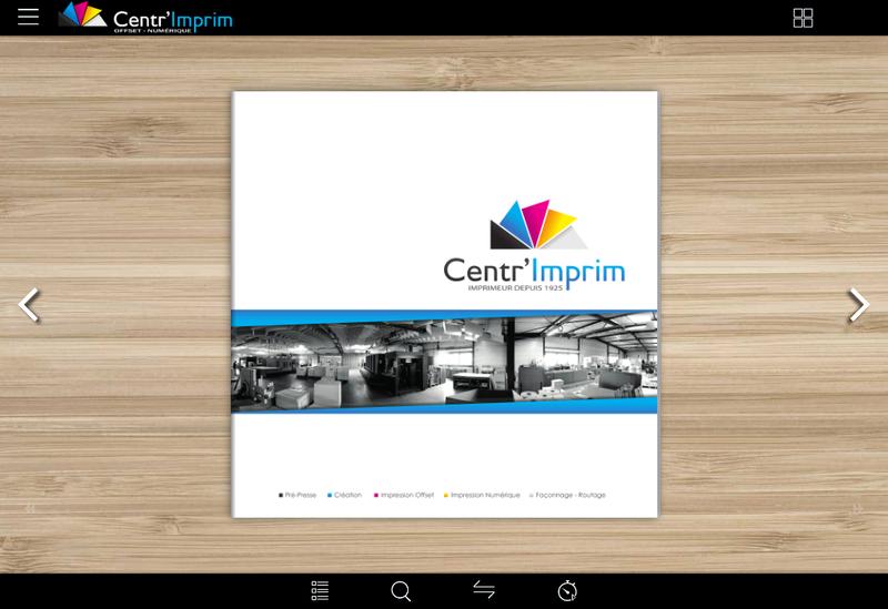 Capture d'écran du site de Centr Imprim