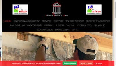 Site internet de Ceosus Construction