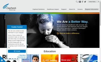 Site internet de Cepheid Europe