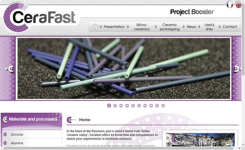 Capture d'écran du site de Cerafast