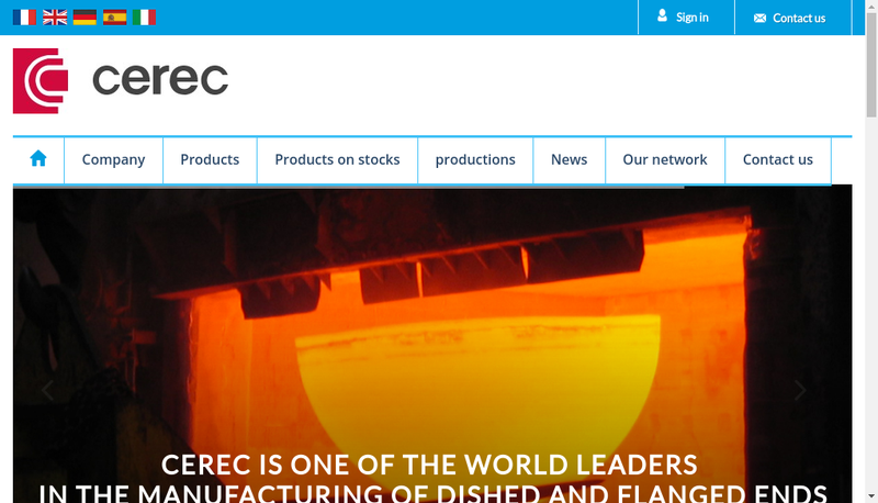 Capture d'écran du site de Cerec