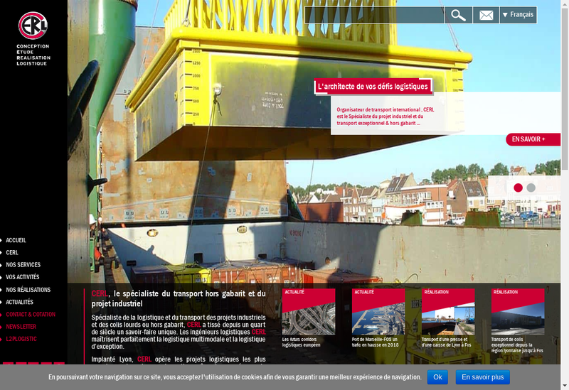 Capture d'écran du site de CERL
