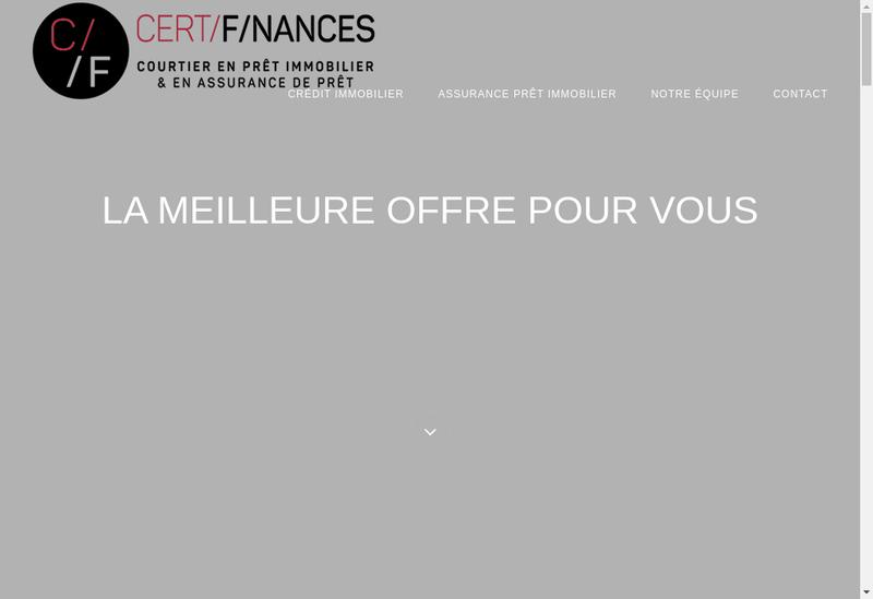 Capture d'écran du site de Certi Finances