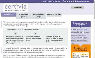 Site internet de Certivia
