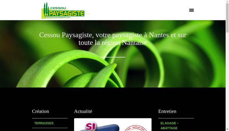 Capture d'écran du site de Cessou Paysagiste