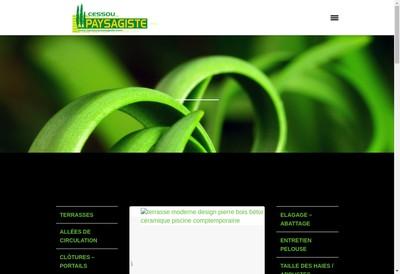 Site internet de Cessou Paysagiste