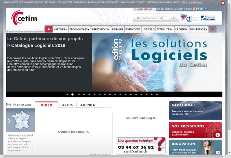 Capture d'écran du site de Cetim Developpement Sas