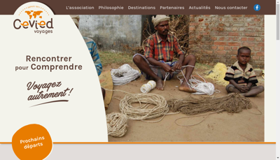 Capture d'écran du site de Cevied Cent Voyag Inter Etud d'