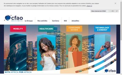 Site internet de Cfao