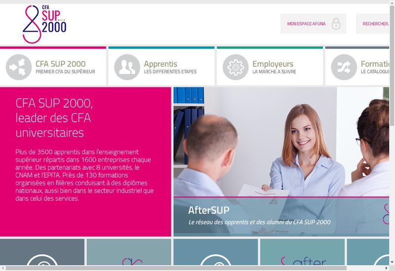 Capture d'écran du site de Cfa Sup 2000