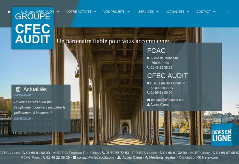 Capture d'écran du site de Audit