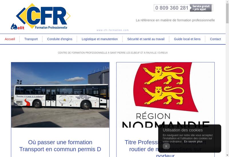 Capture d'écran du site de CFR