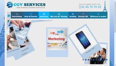 Site internet de CGV Services