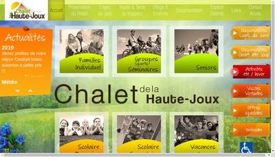 Site internet de Chalet de la Haute Joux