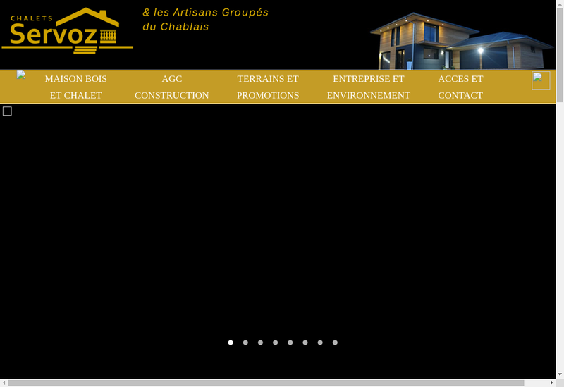 Capture d'écran du site de Chalets Servoz