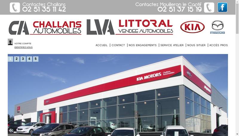 Capture d'écran du site de Littoral Vendee Automobiles