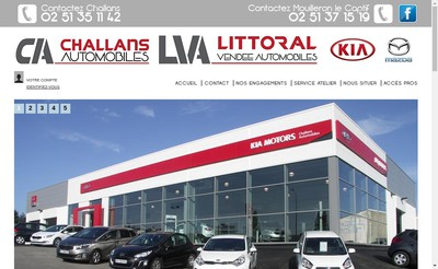 Site internet de Littoral Vendee Automobiles