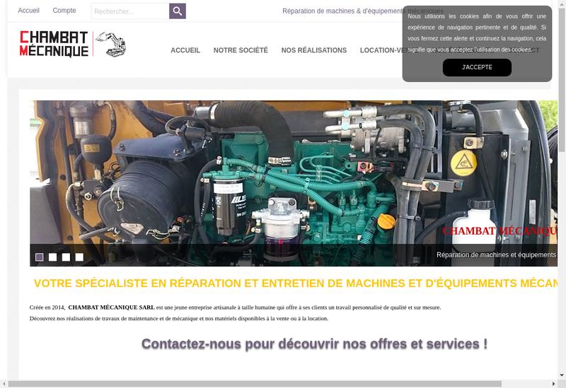 Capture d'écran du site de Chambat Mecanique