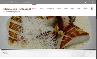Site internet de Chameleon