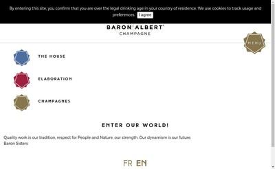 Site internet de Champagne Baron Albert