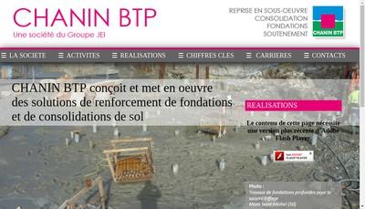 Site internet de Chanin Btp