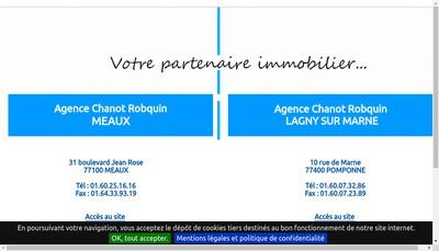 Site internet de Chanot Robquin Meaux