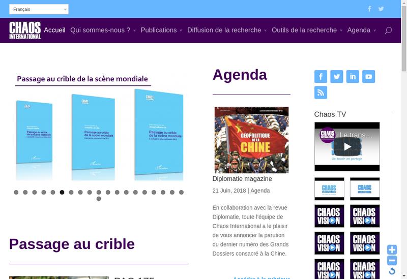 Capture d'écran du site de Chaos International