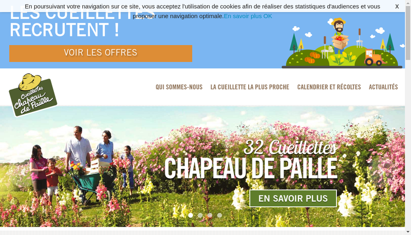 Capture d'écran du site de Gie Cls Chapeau de Paille