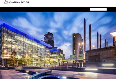 Capture d'écran du site de Chapman Taylor France