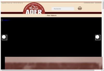 Site internet de Charcuterie Ader