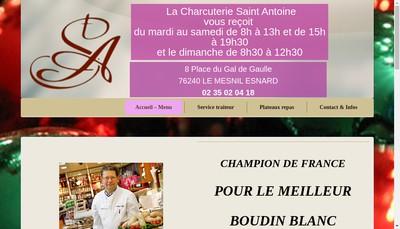 Site internet de Charcuterie Saint Antoine