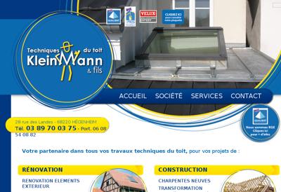 Capture d'écran du site de Baumann SARL Ets Martin Kleinmann