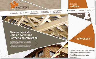Site internet de Charpentiers Casadeens