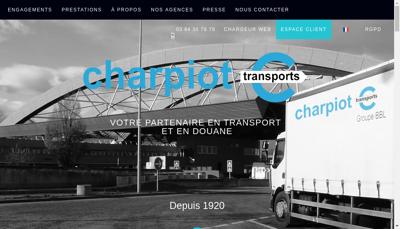 Capture d'écran du site de Alphonse Charpiot et Compagnie
