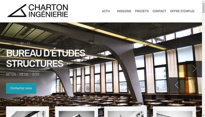 Site internet de Charton Ingenierie