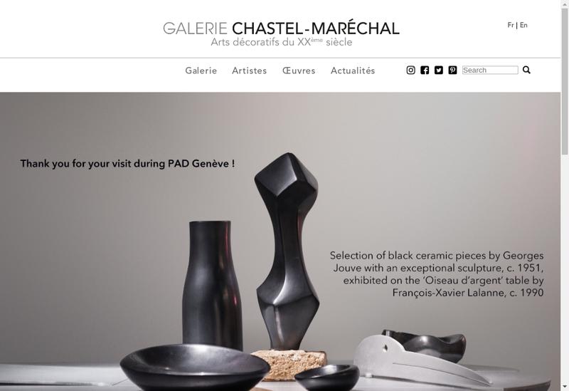 Capture d'écran du site de Galerie Chastel Marechal