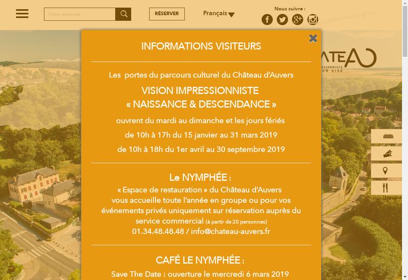 Capture d'écran du site de L'Impressionniste Cafe