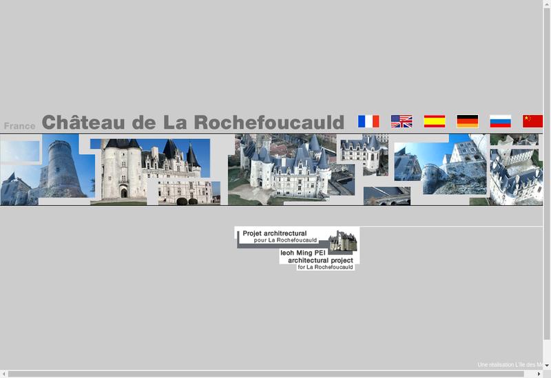 Capture d'écran du site de La Rochefoucauld